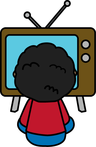 image freeuse library Library kids clipart. Watch tv kid watching