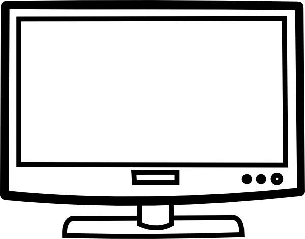 image black and white download Television drawing.  collection of flat.