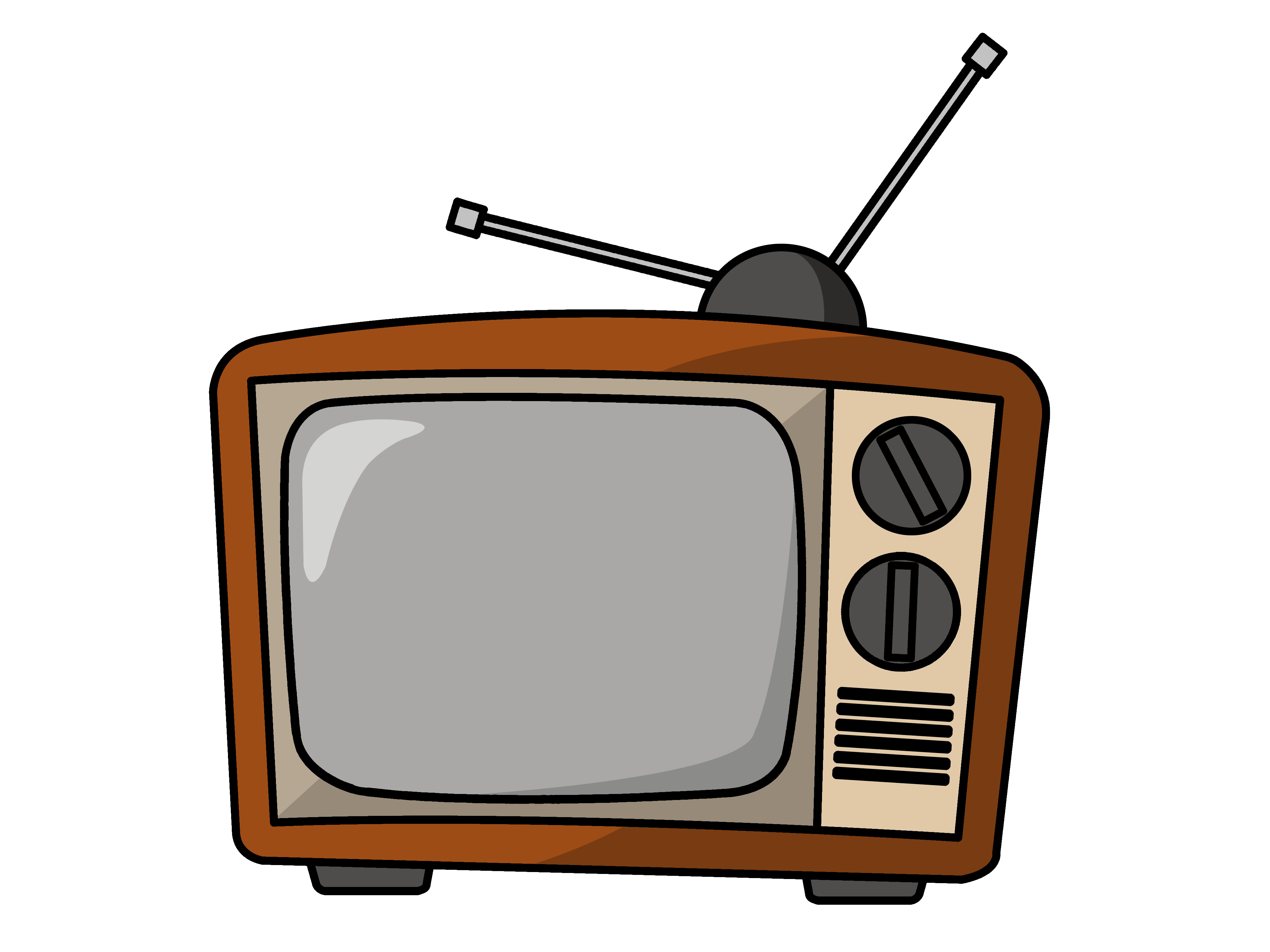 clipart Television drawing old school. Tv transparent png pictures.