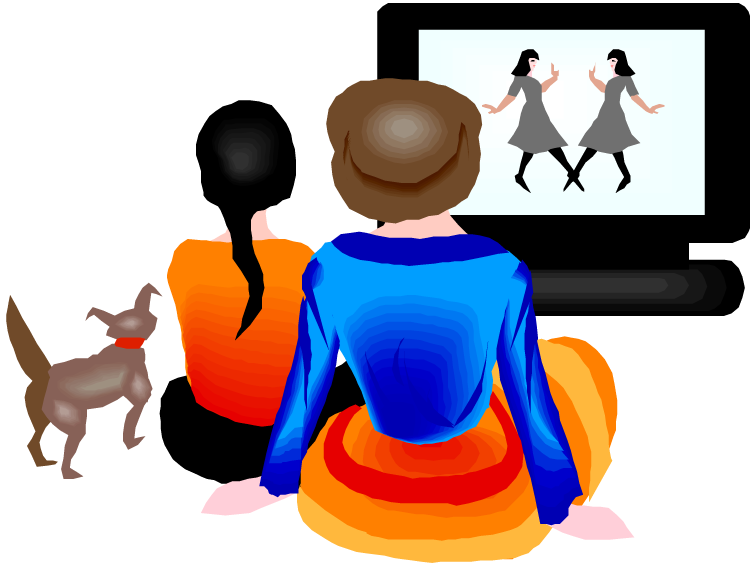 vector freeuse stock Movies clipart movie player. Watching tv clip art.
