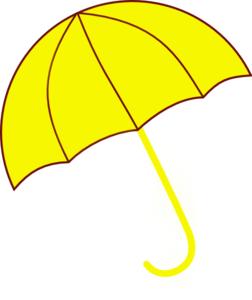 jpg transparent library Np clip umbrella. Yellow art at clker