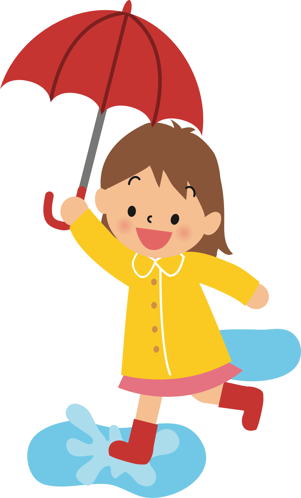 png transparent library Girl walking clipart. With umbrella silhouette at