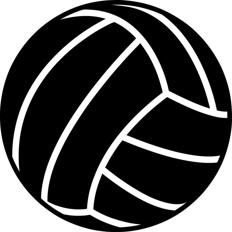 jpg free Black and white clip. Volleyball clipart