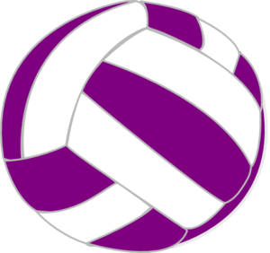 jpg black and white Purple and white clip. Blue clipart volleyball.