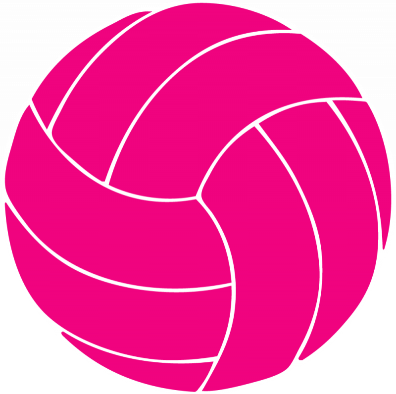 svg free download Pink . Volleyball clipart