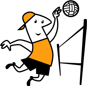 clipart transparent library Image of Playing Volleyball Clipart