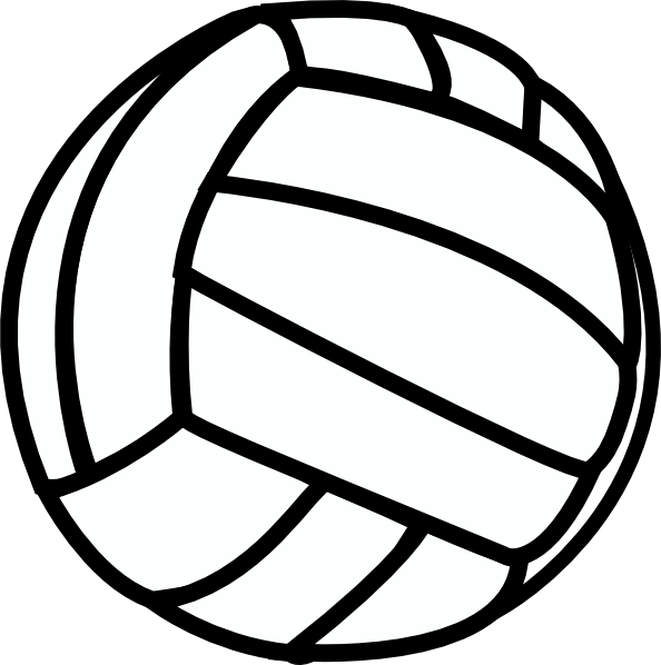 clip clipart volleyball