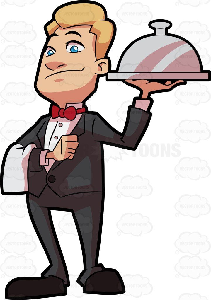 picture transparent download A carrying main dish. Clipart waiter