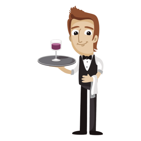 graphic royalty free Clipart waiter. Png free images toppng