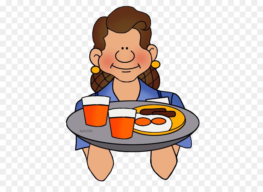 jpg royalty free library Waitress clip art . Clipart waiter