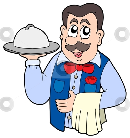 picture freeuse stock Clipart waiter.  clipartlook
