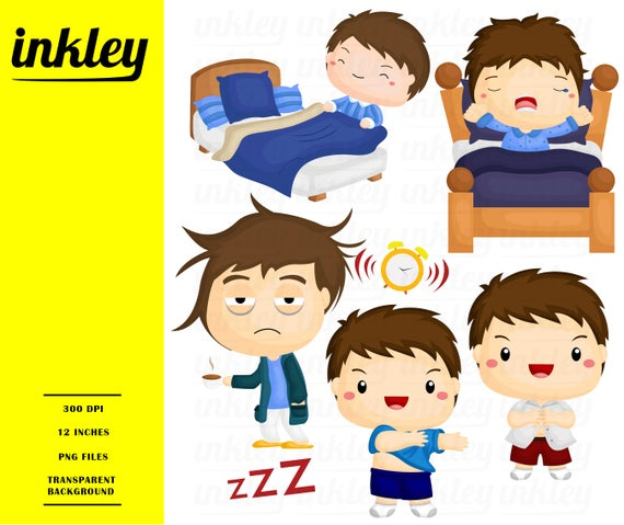 picture free library Wake up clip art. Waking clipart bed