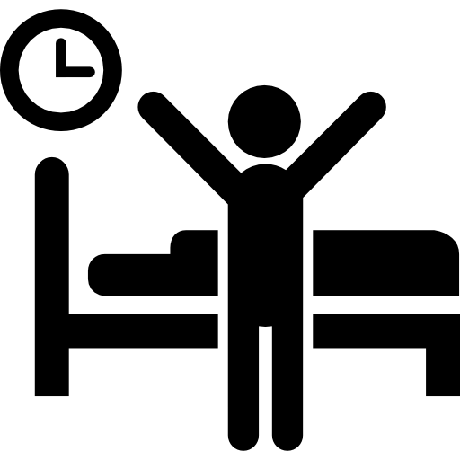 clip free download Up man people person. Waking clipart bed