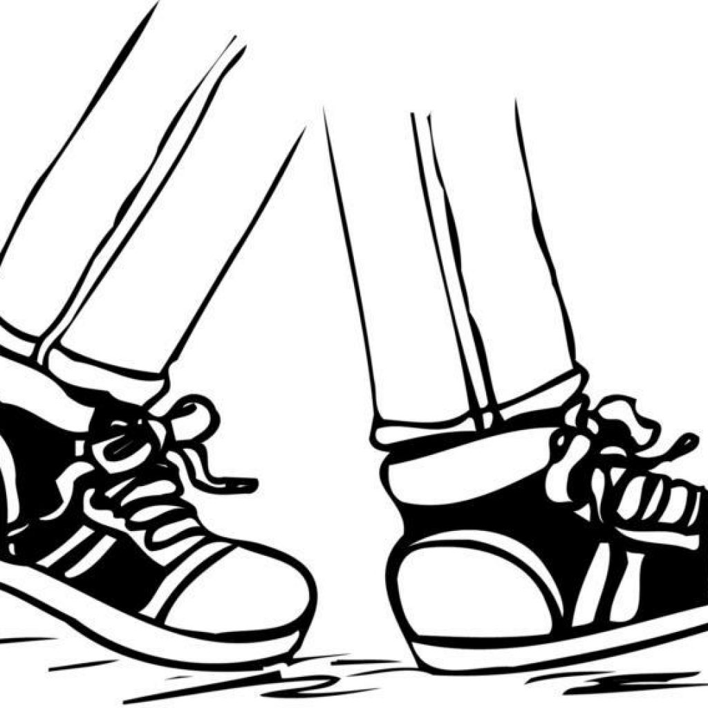 graphic black and white stock Drawing free download best. Clipart walking feet.