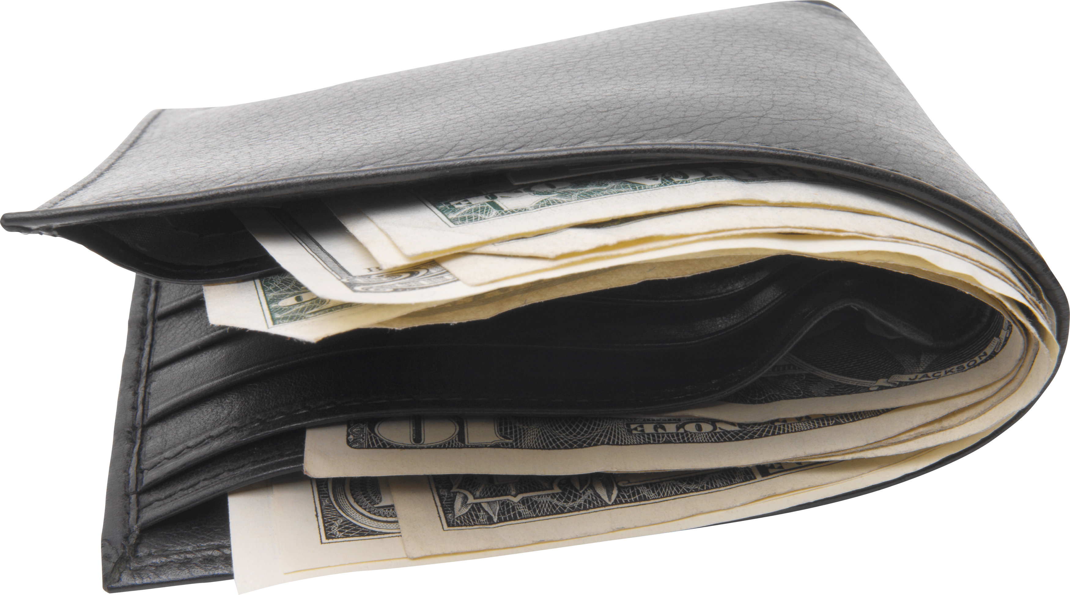 graphic black and white stock Clipart wallet. Black with money png.