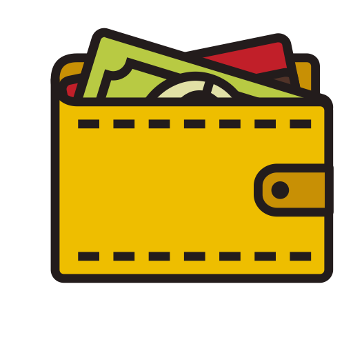 image royalty free library Clipart wallet. Fill linear icon png