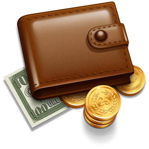 clip art transparent stock Clipart wallet. With money five isolated.