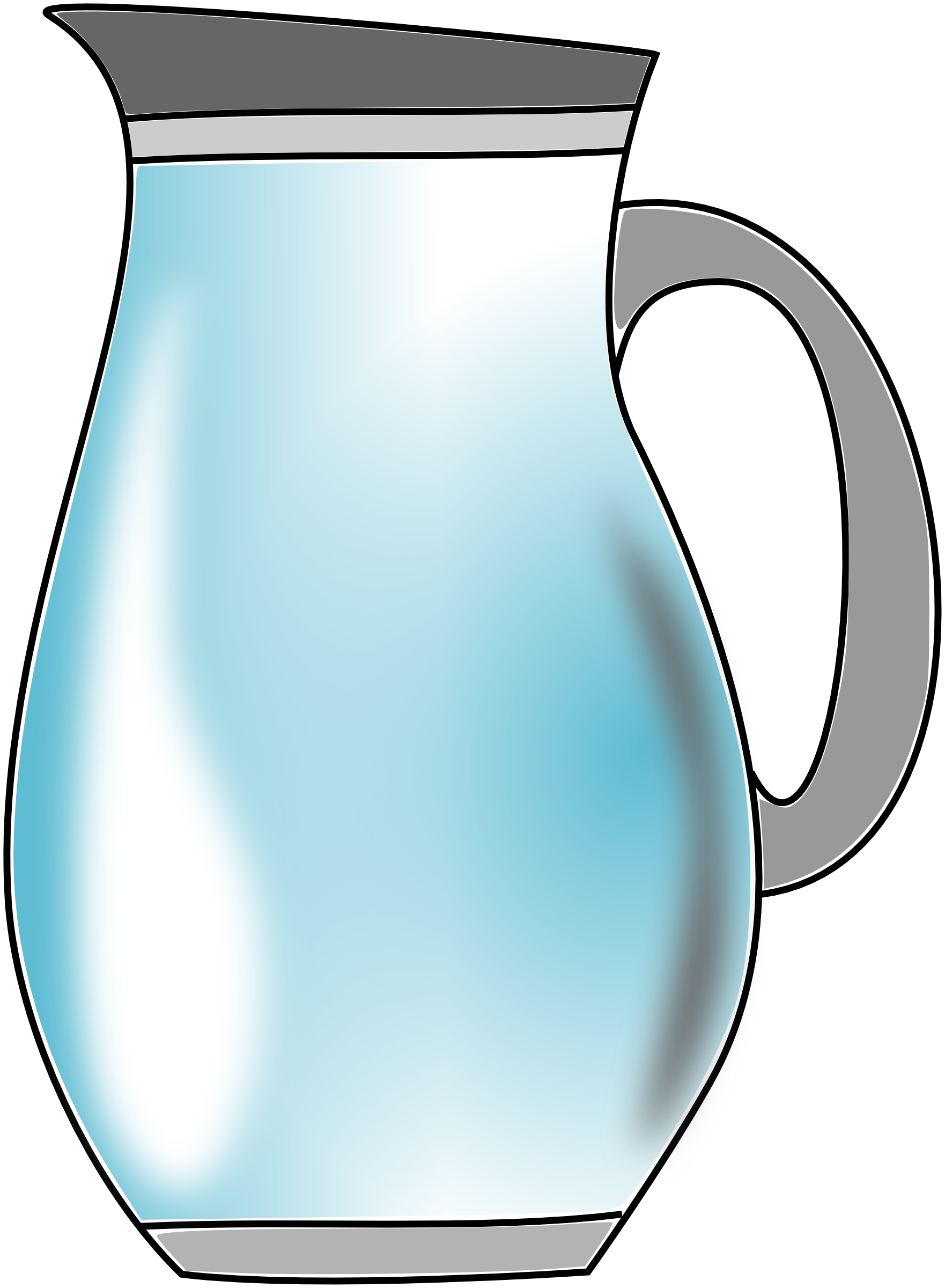 free stock Pitcher clip art panda. Mugs clipart water.