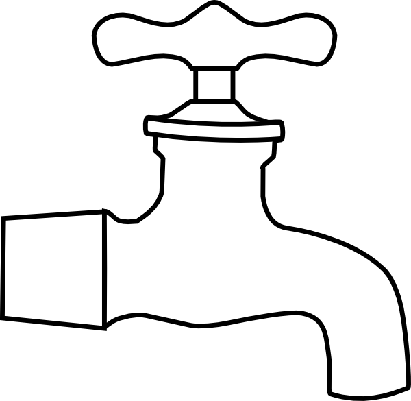 png freeuse library Faucet clipart black and white. Water clip art at