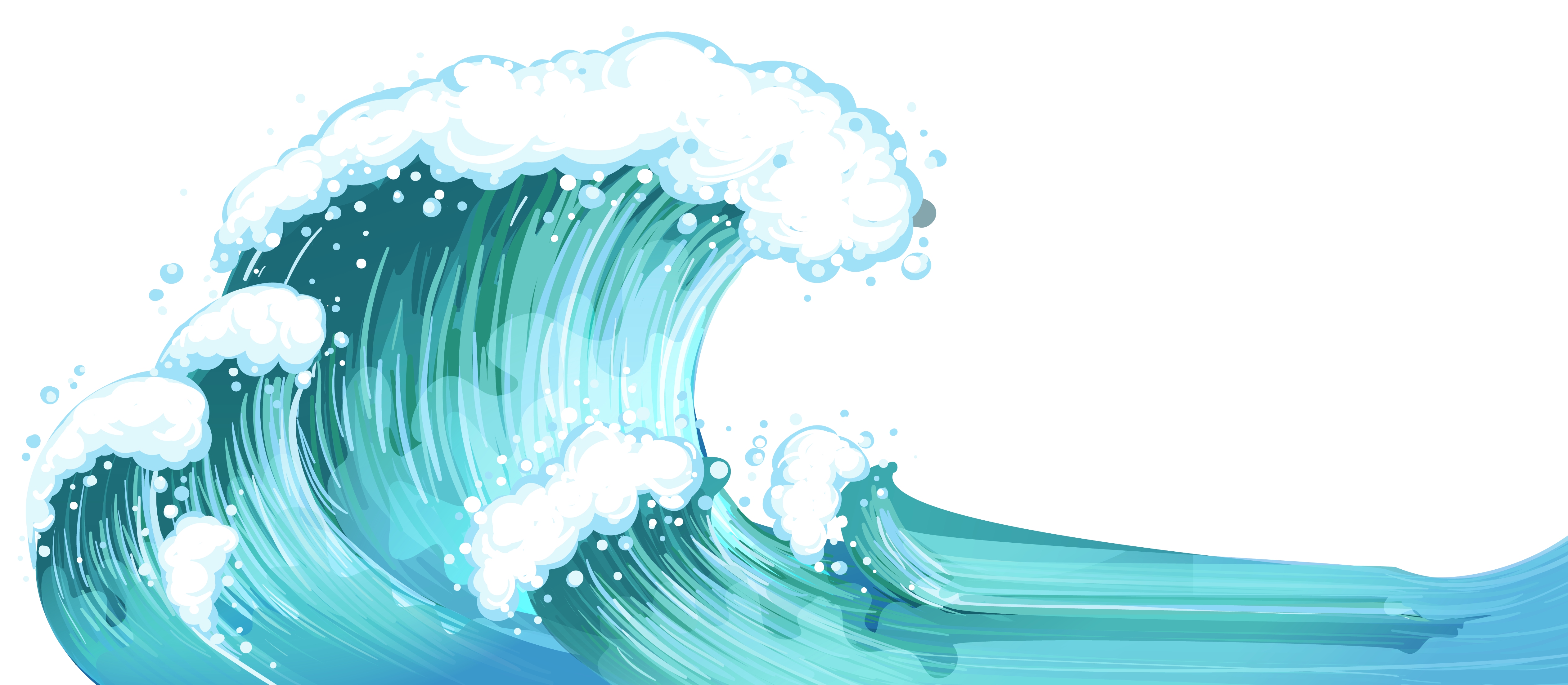banner library ocean waves clip art simple