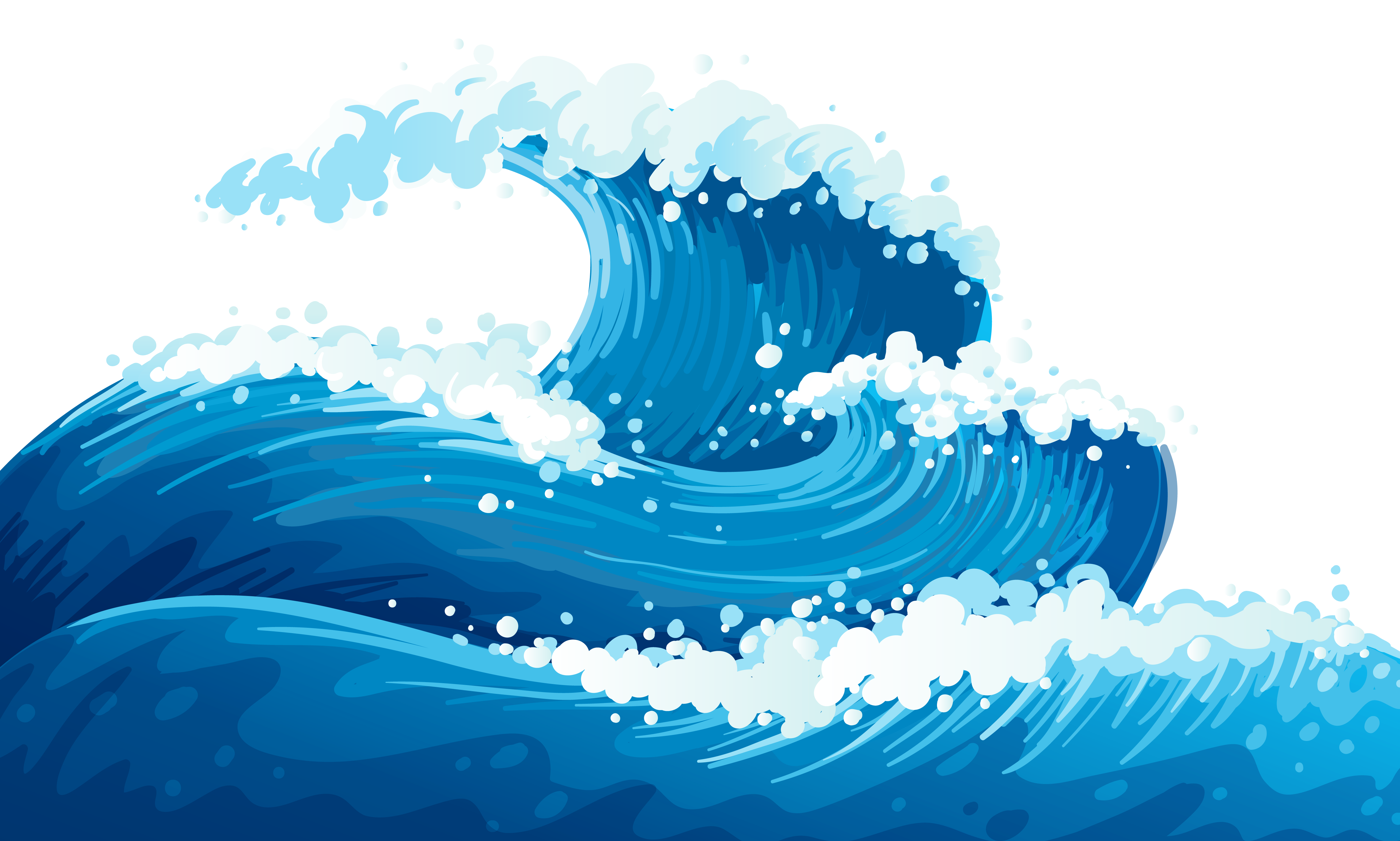 svg library stock Transparent beach water.  collection of waves