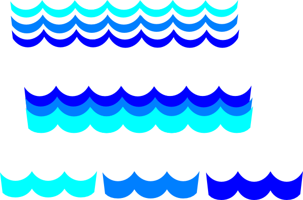 clip royalty free stock Wave pattern many options. Ocean border clipart
