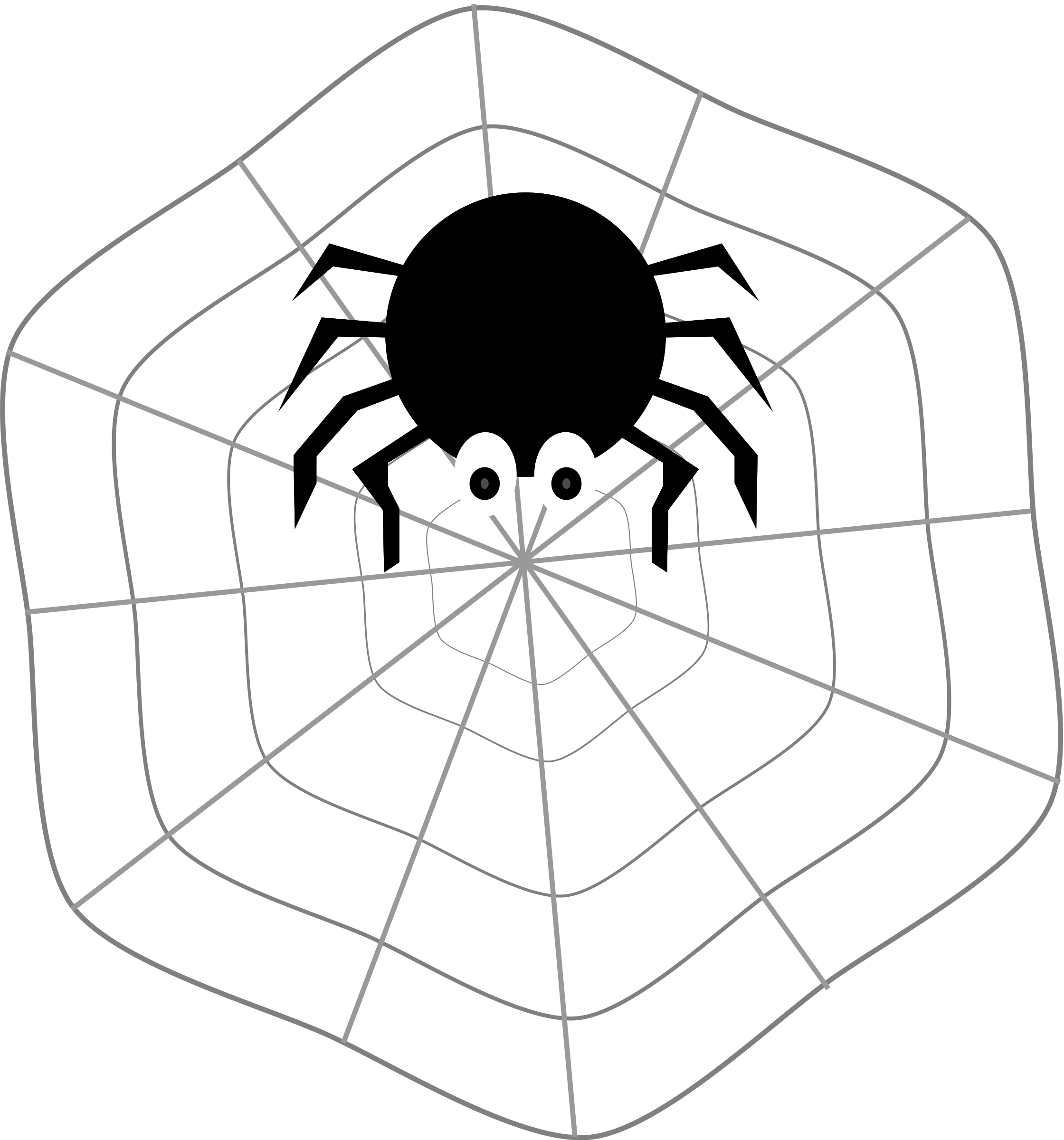clipart freeuse library Spider and web clipart. On big image png