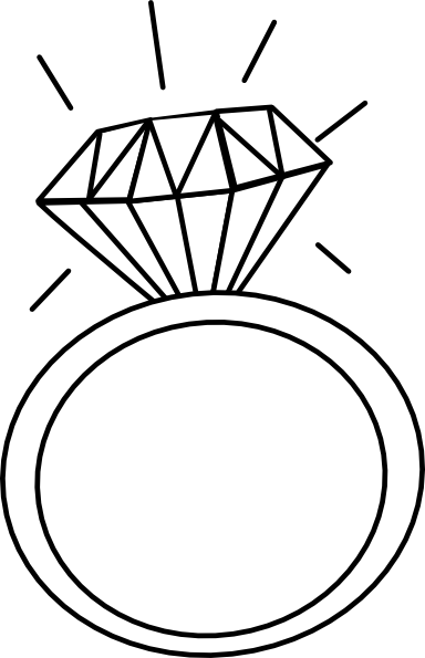 freeuse library Engagement Ring Outline Clip Art