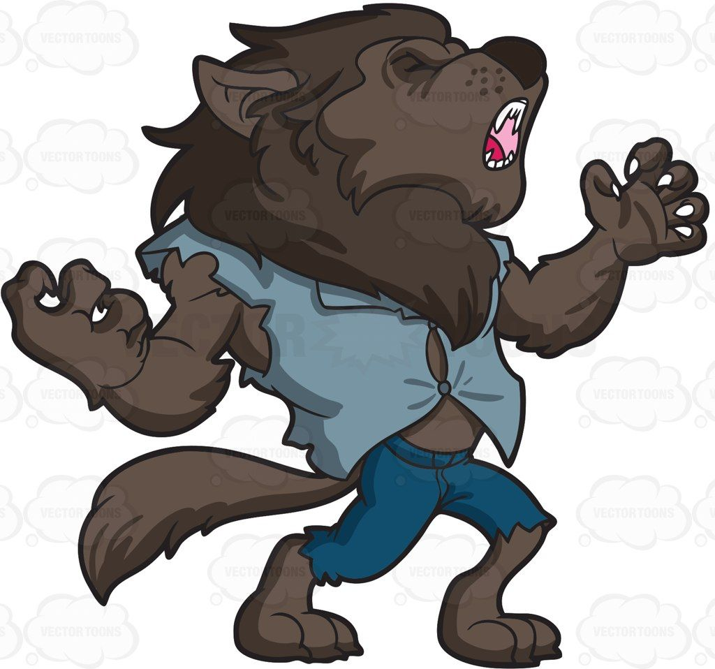 clip art free stock A howling dark cartoon. Clipart werewolf