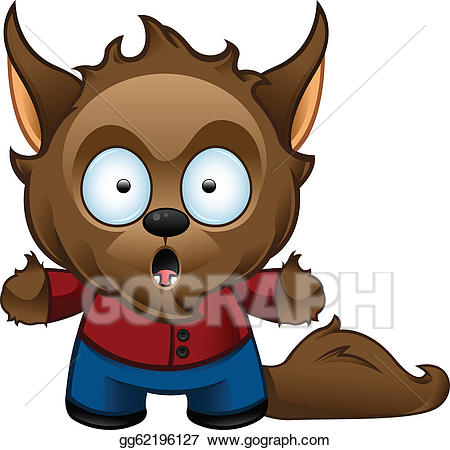 graphic free Vector monster shocked . Clipart werewolf