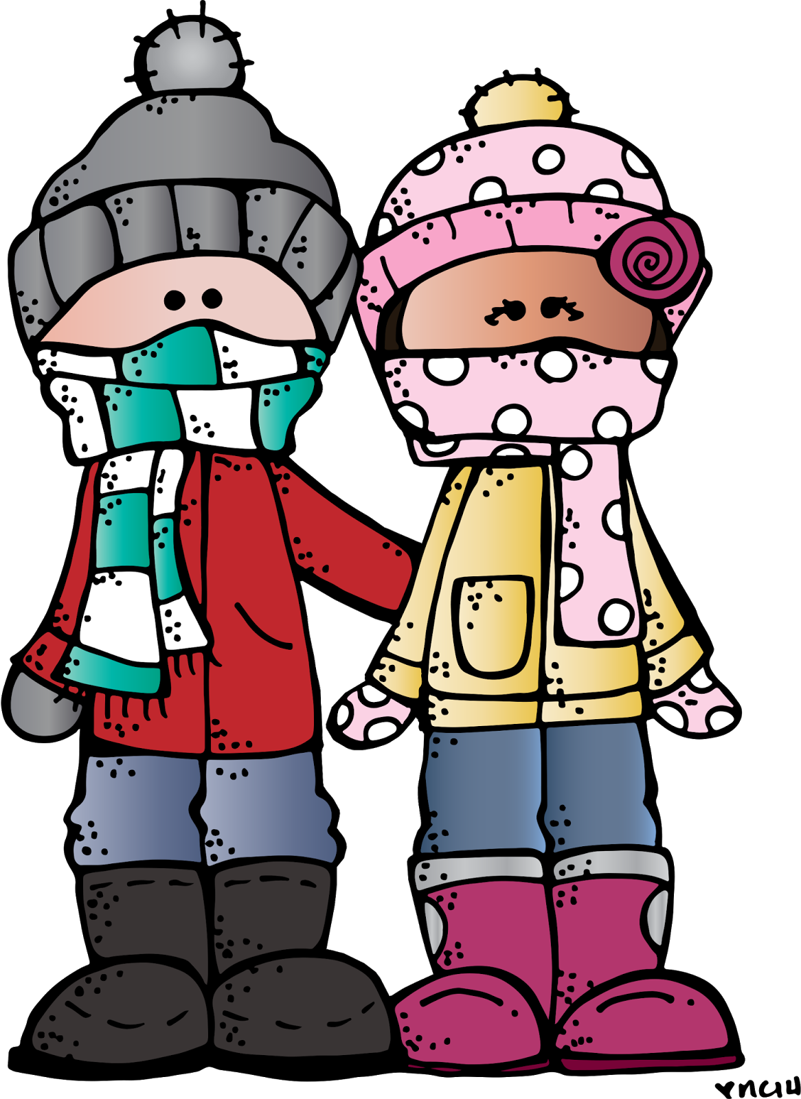 banner library stock January clipart. Melonheadz illustrating happy winter
