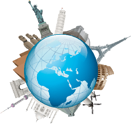 image free download Travel the arts image. World clipart