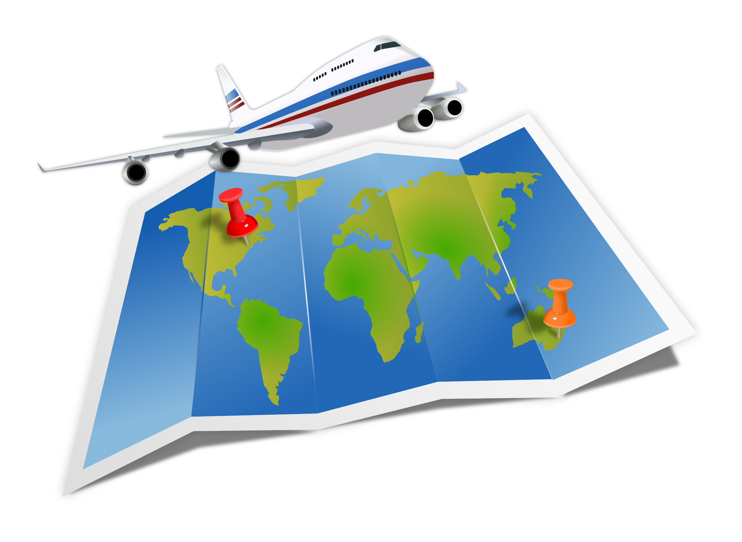 download Going to clipart vacation. Travel map big image