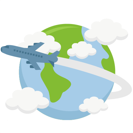 png free download Airplane Flying Around World SVG cutting file earth svg cut file for