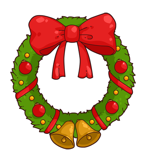 svg library Clipart wreath. Kid clipartix