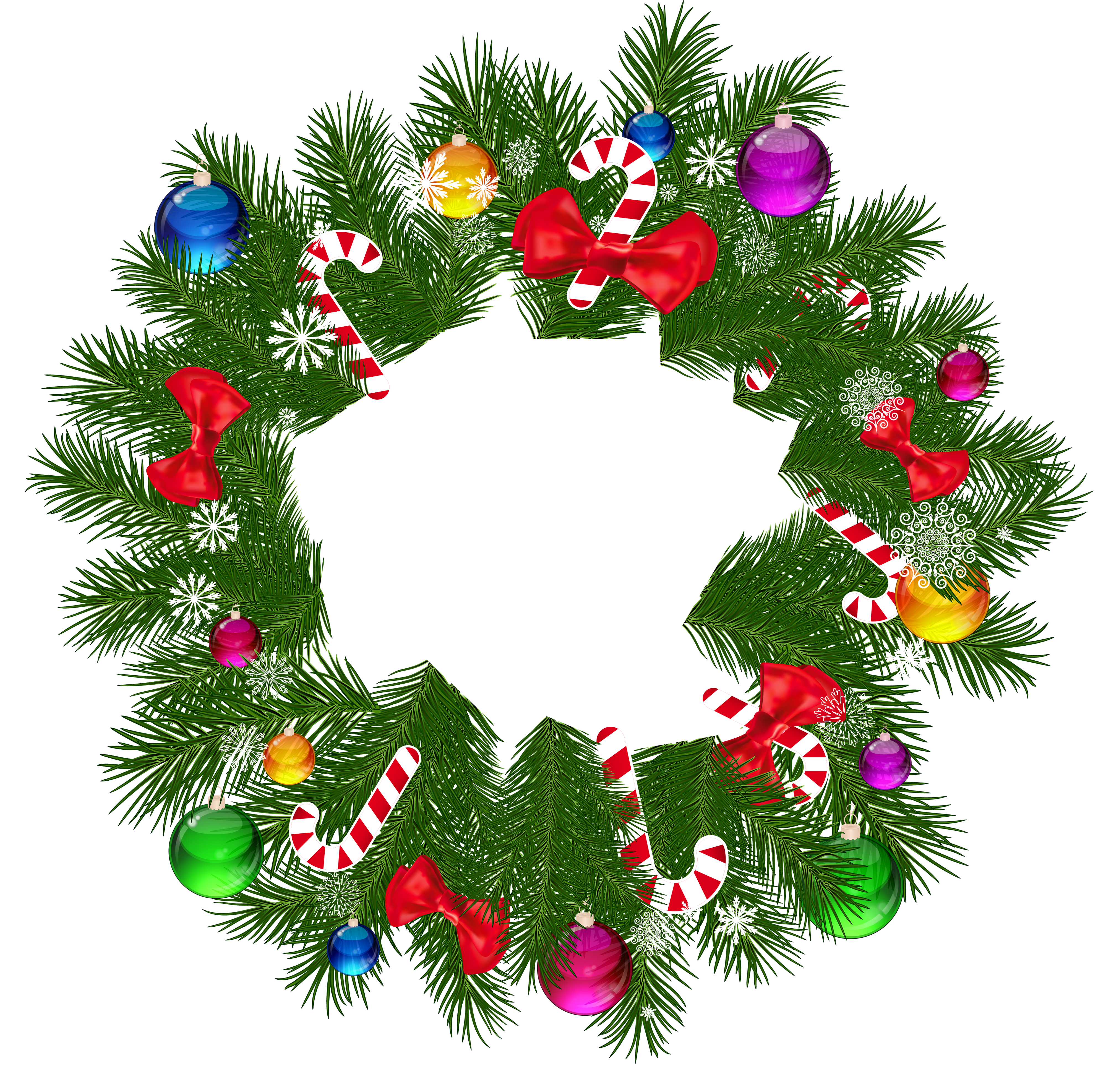 banner Clipart wreath. Free png hd christmas