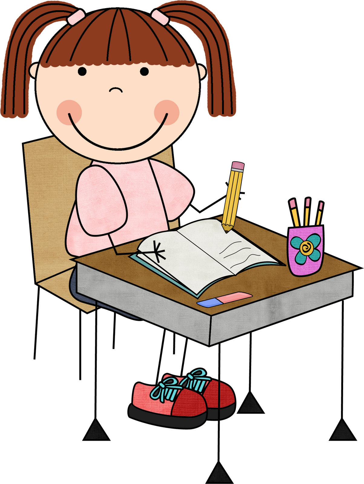 clip art free download Work on . Child writing clipart
