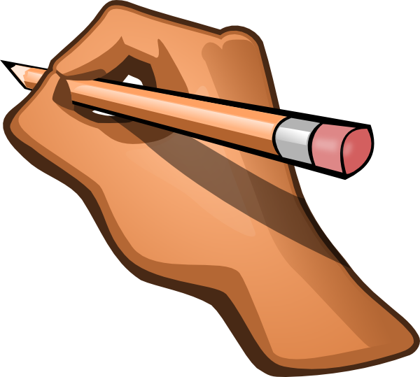 jpg library download Hand Writing Clipart