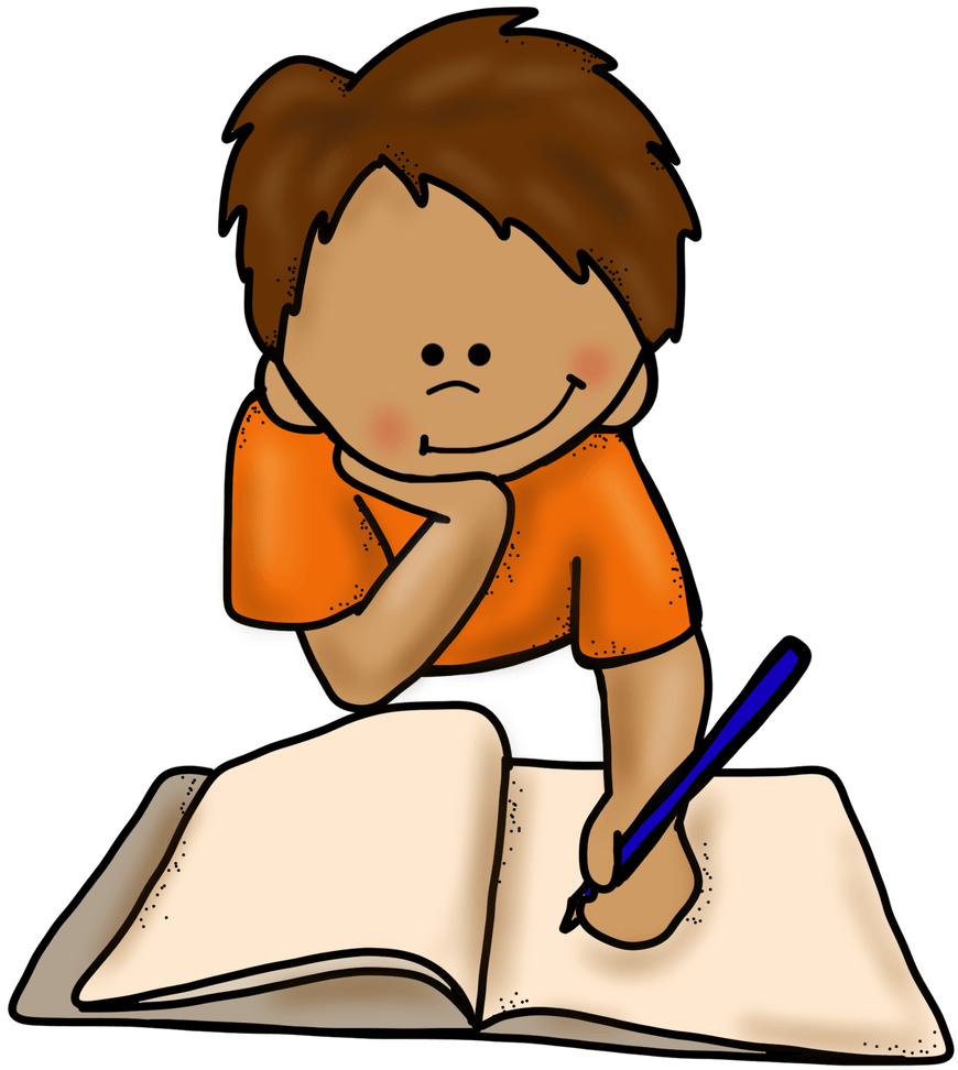 png library download Boy writing clipart. Como corregir la letra