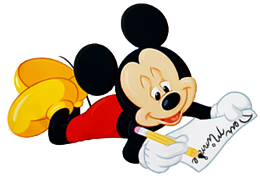clip transparent download Disney cliparts letters free. Writer clipart letter writing.
