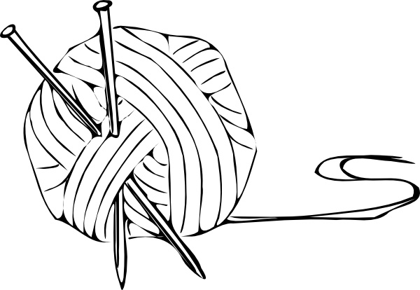 vector transparent download Clip art free vector. Clipart yarn and knitting needles