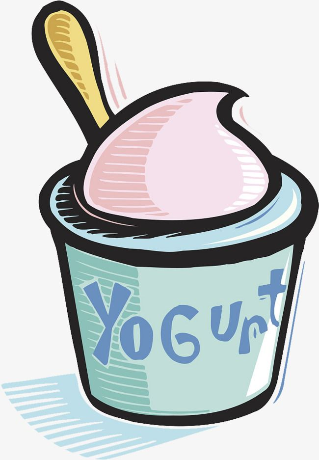clip library Clipart yogurt. A cup of spoon