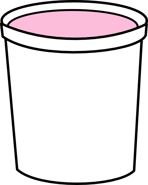 clipart free Pink Yogurt Container Clip Art at Clker