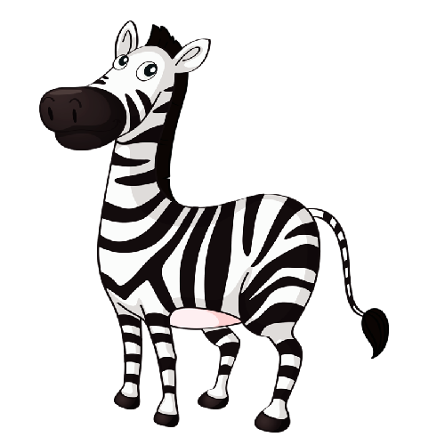 clip art freeuse download Yoyo clipart cartoon. Zebra letters format cute