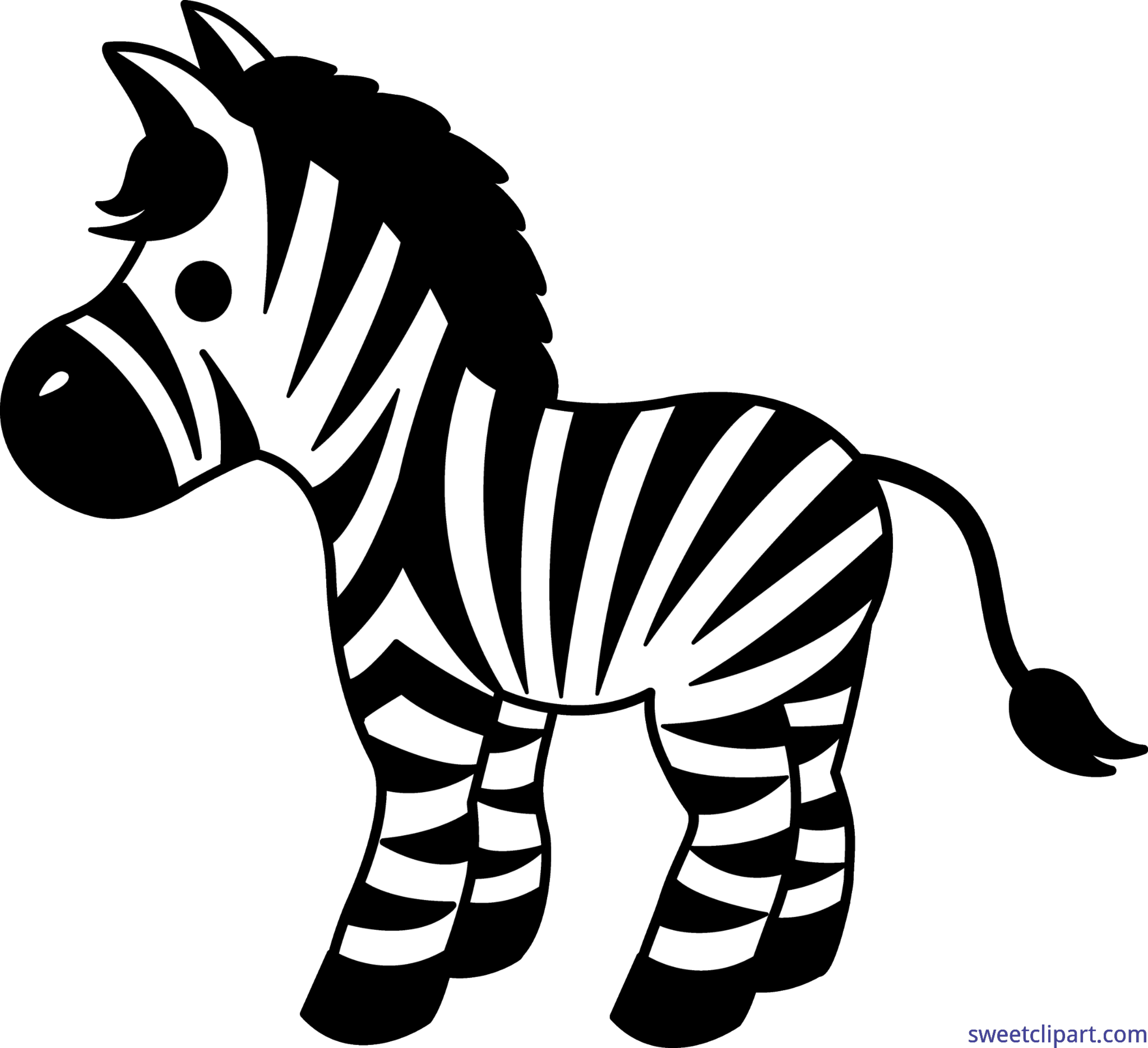 vector royalty free download Cute zebra clip art. Animal print clipart