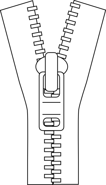 png free library Zipper Outline Clip Art at Clker