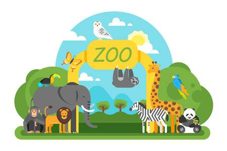 vector stock Clipart zoo. Time x free clip.