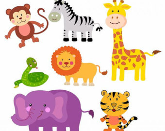vector black and white  animals clip art. Zoo animal clipart