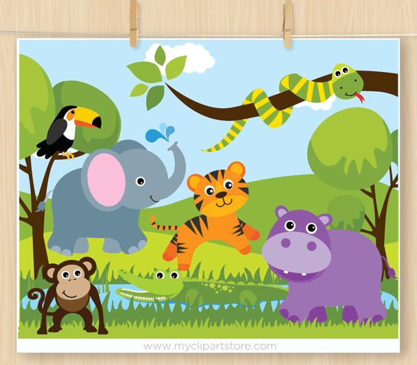 png freeuse Clipart zoo. Savannah animals .