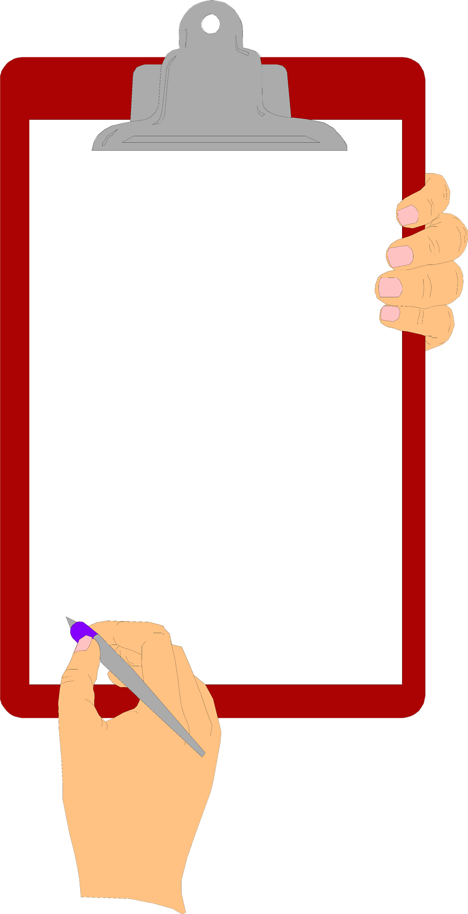 vector free Clipboard clipart. Free stock photo illustration.